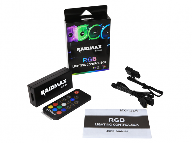 Raidmax RGB LED 4 Port (4 Pin) Controller | 4 Pin RGB Motherboard Connector (Compatible with: Fusion 2.0/Mystic Light Sync/Aura Sync)