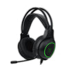 T-Dagger Atlas Green Lighting|210cm Cable|3.5mm+USB|Omni-Directional Gooseneck Mic|40mm Bass Driver|Stereo Gaming Headset - Black/Green