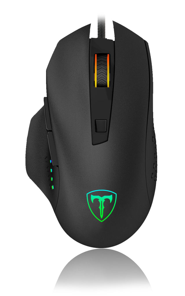 T-Dagger Warrant-Officer 4800DPI 6 Button|180cm Cable|Ergo-Design|RGB Backlit Gaming Mouse - Black/Red