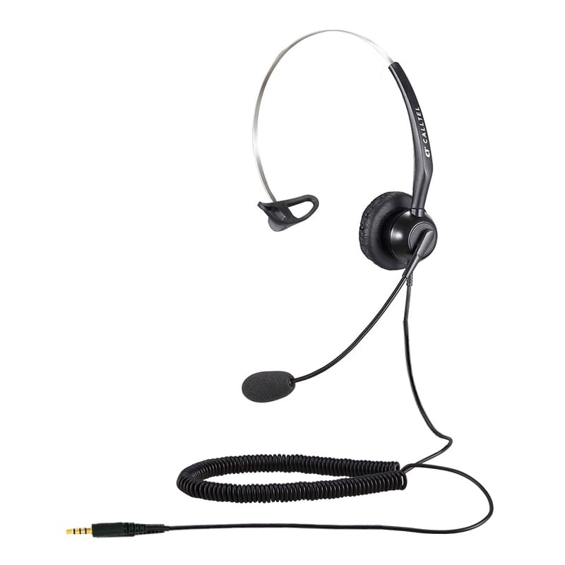 Calltel T800 Mono-Ear Noise-Cancelling Headset - Single 3.5mm Jack
