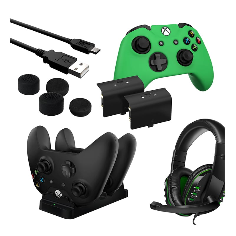 Sparkfox Player Pack 2xBattery Pack|1xCharge Cable|1xCharging Station|1xHeadset|1xStandard Thumb Grip Pack