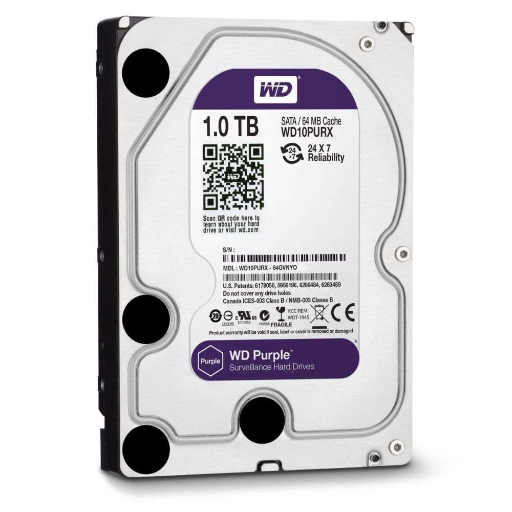 WD Purple 1TB 3.5 SATA 64MB