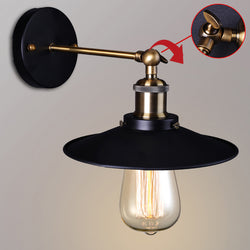 Vintage Plated Industrial Wall Lamp Retro Loft LED - Dizzel Shopping
