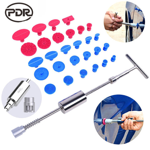 PDR Tools Kit Dent Puller Slide Hammer PDR Glue Tabs Suction Cup - Dizzel Shopping