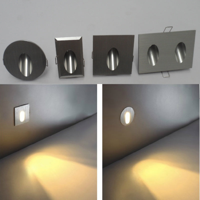 LED Stair Light 85-265V 3W Wall Mounted Spotlight Background Light Step Aisle Lamp - Dizzel Shopping