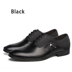 MRCCS Pointed Shoes Big Size 38-47 Business Men's Basic Casual Shoes,Black/Brown Leather Cloth Elegant Design Handsome Shoes - Dizzel Shopping