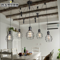 Industrial Pulley Pendant Lights Fixture - Dizzel Shopping