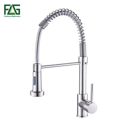 Kitchen Faucet Brushed Nickel Faucet Pull Out   Swivel 2-Function - Dizzel Shopping