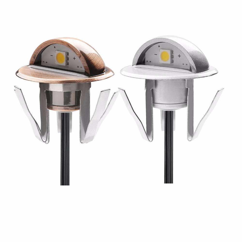 Half-moon IP65 LED Stair Lights Low Voltage Outdoor Step Stair Lamps 10pcs/set - Dizzel Shopping