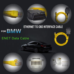Ethernet to OBD For BMW F Series ENET Cable E-SYS ICOM 2 Coding Without CD - Dizzel Shopping