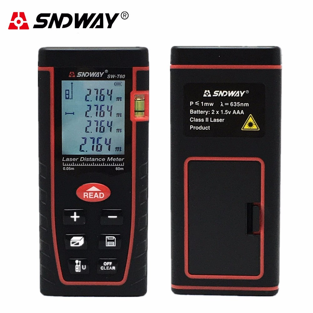 60m Digital laser rangefinder  197ft distance meter range finder - Dizzel Shopping
