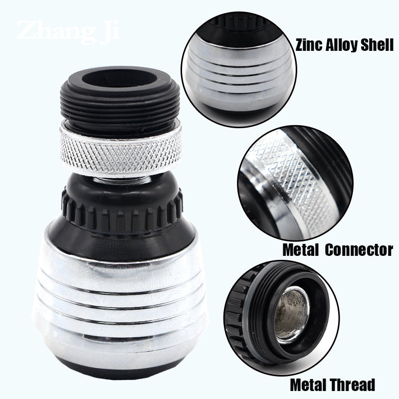Kitchen Bathroom Water Saving Faucet Aerator High quality metal material 2 mode aerator shower head - Dizzel Shopping
