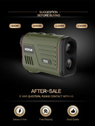 600m-1200m Multifunction 6x Laser Range Finder - Dizzel Shopping
