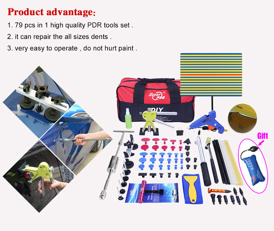 PDR Tools Kit Dent Removal Paintless ** FREE COURIER SHIPPING ** - Dizzel Shopping