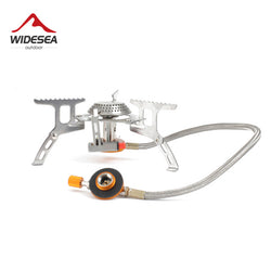 Widesea Outdoor Gas Stove Camping Gas burner Folding Electronic Stove hiking Portable Foldable Split Stoves 3000W - Dizzel Shopping