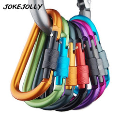 6pcs Carabine Outdoor Kit Camping Equipment Alloy Aluminum Survival Gear Camp Mountaineering Hook EDC Mosqueton Carabiner GYH - Dizzel Shopping