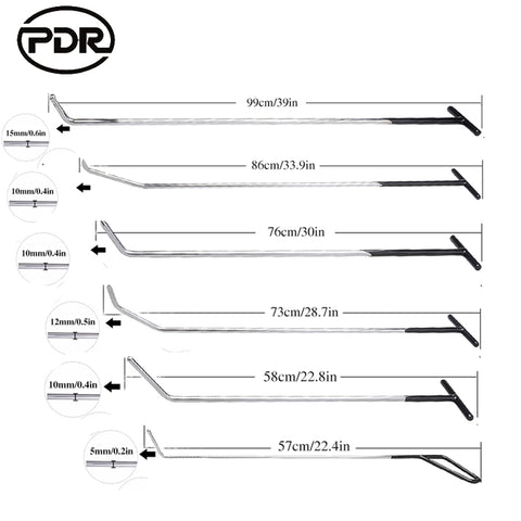 PDR Hook Tools Push Rods Dent Removal Tools - Dizzel Shopping