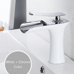 Basin Faucets Waterfall Bathroom Faucet Single handle Basin - Dizzel Shopping