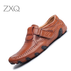 New Design 2017 Spring Summer Men Flat Shoes Soft Split Leather Male Moccasin Driving Loafers Shoes Casual Sapatos Homens - Dizzel Shopping