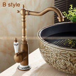 Basin Faucets Antique Bathroom  Single Handle Single Hole - Dizzel Shopping