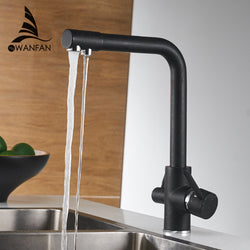 Kitchen Faucets Deck Mounted Mixer Tap  Water Purification Features - Dizzel Shopping