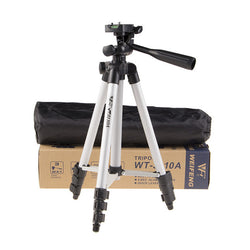 Tripod With 3-Way Head Tripod for Nikon DSLR Sony NEX-5N A7S Canon - Dizzel Shopping