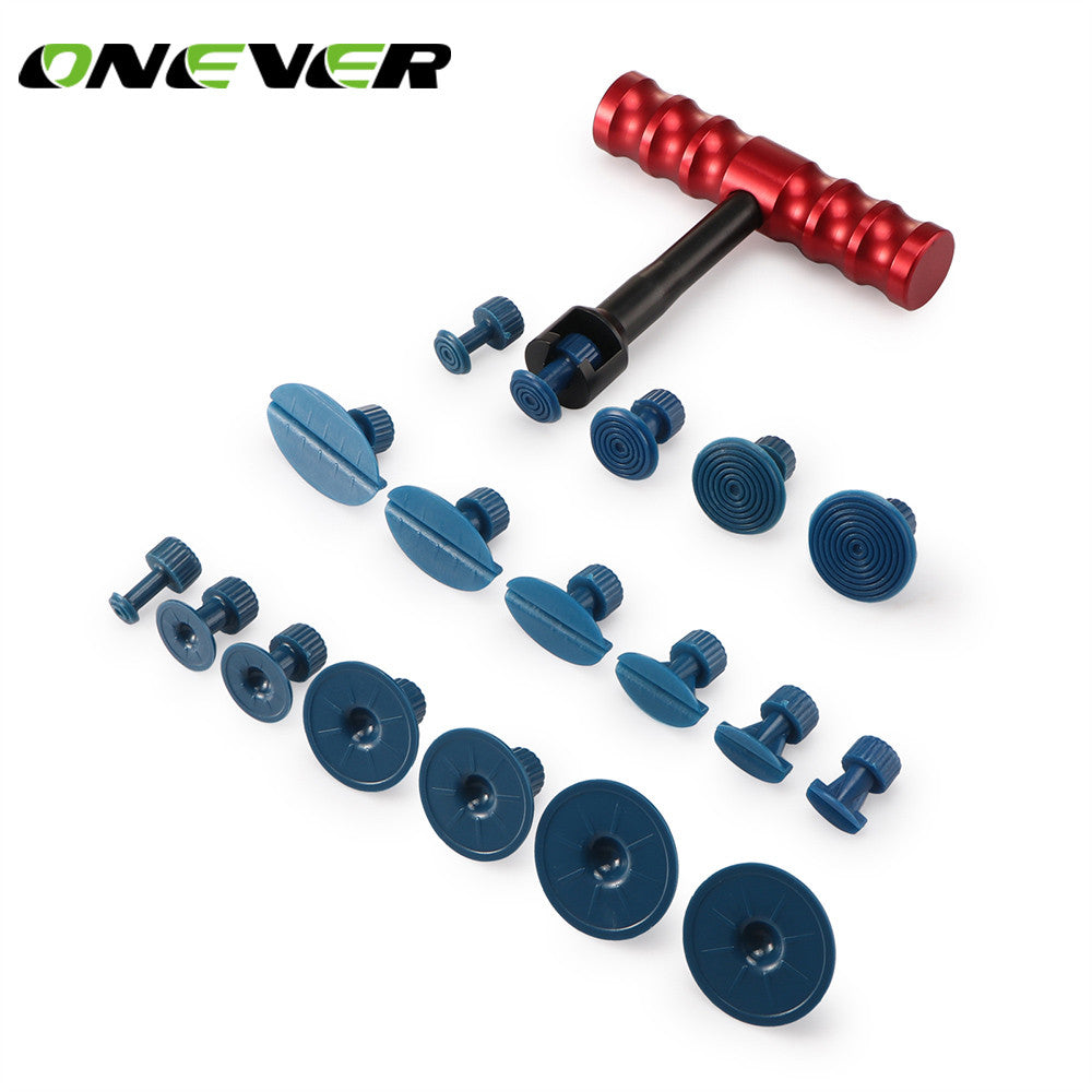 Onever 18pcs Auto Car Body Dent Removal Repair Lifter Tool T-handle Bar Puller Tabs - Dizzel Shopping