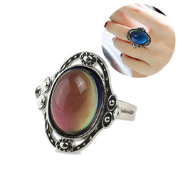 TINKSKY Adjustable Oval Color Changing Mood Ring Finger Ring - Dizzel Shopping
