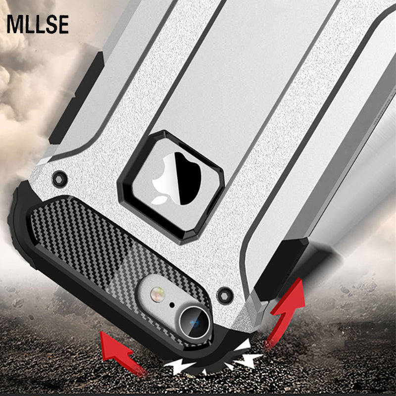 Hybrid Tough Shockproof Armor Phone Back Case for iPhone X 5S SE 6 6S Plus 8 7 - Dizzel Shopping