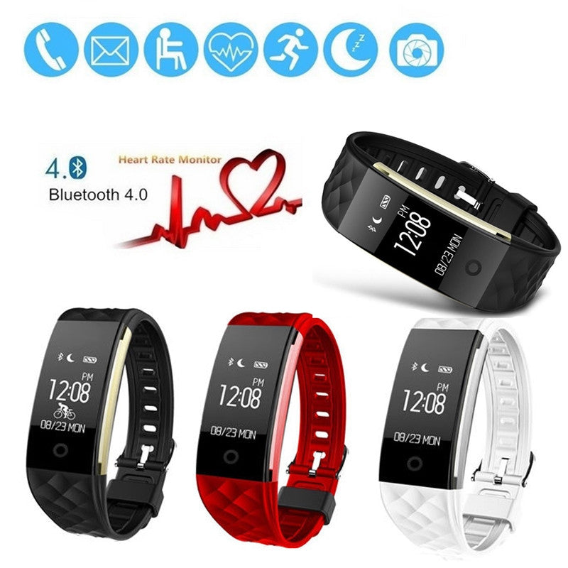 Waterproof Heart Rate GPS Smart Wristband Watch Bracelet Sport Fitness Tracker - Dizzel Shopping