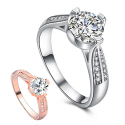 Flower Crystal Wedding Ring For Women Jewelry Accessories Rose Gold Gold Engagem - Dizzel Shopping