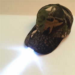 5 LED Super Bright Glow in Dark Outdoor Fishing Camping Hunting Headlight Baseball Caps Luminous Holiday Hat for Unisex - Dizzel Shopping