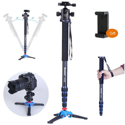 Camera Monopod,Portable Professional DSLR Monopod For Canon Nikon DSLR DV - Dizzel Shopping