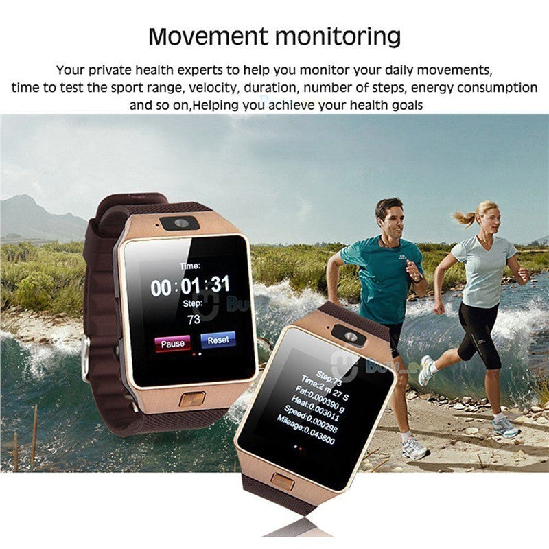 Bluetooth Smart Watch DZ09 Smartwatch GSM SIM Card With Camera for Android IOS Phones - Dizzel Shopping