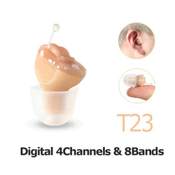 4 Channels Digital Invisible Hearing Aids Sound Amplifier For The Elderly T23  Hearing Aid Battery A10 - Dizzel Shopping