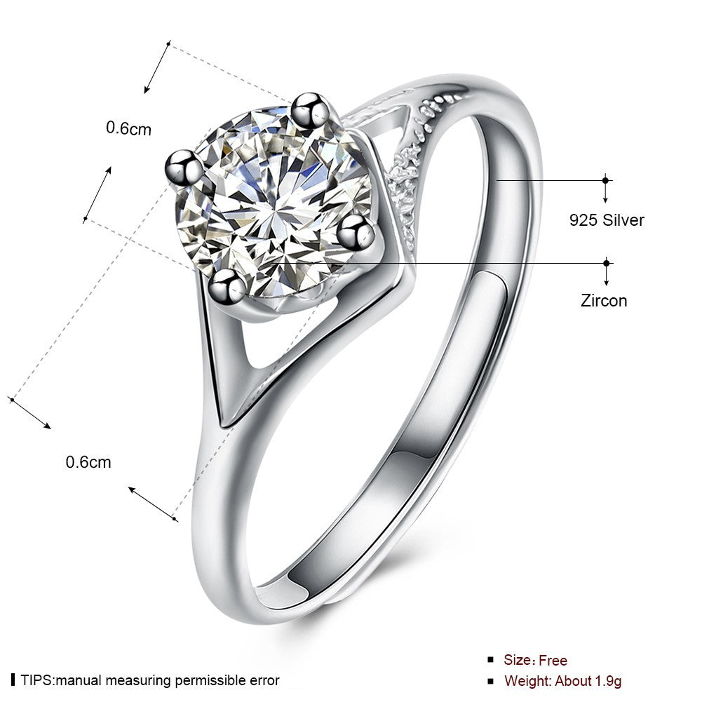 925 Sterling Silver Ring Fashion fashion ring prom fashion ring - Dizzel Shopping