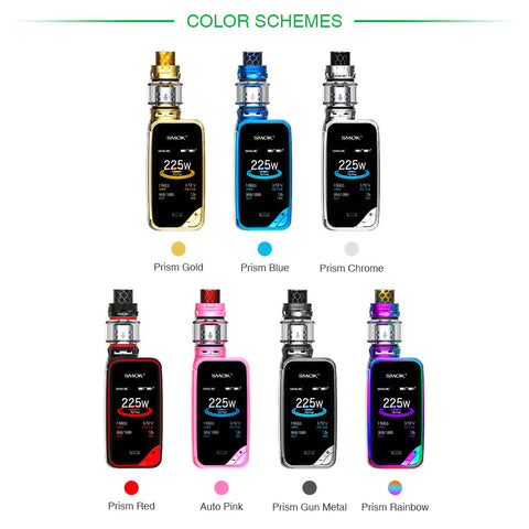 Free Gift! SMOK X-Priv 225W TC Vape Kit with 8ml/2ml TFV12 Prince Atomizer Compatible with Q4/X6/T10 Core 2.0-inch HD Screen - Dizzel Shopping