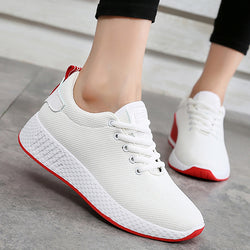 Comfortable women sneakers air mesh spring/autumn shoes solid black/white/pink female shoes zapatillas mujer plus size 34-40 - Dizzel Shopping