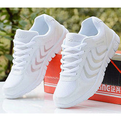 women casual shoes breathable fashion white colors women sneakers shoes laces tenis feminino