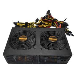 3450W Active PFC Power Supply with 14CM Low Noise Cooling Fans for Bitcoin Mining Machine High Performance High Efficiency Rated - Dizzel Shopping