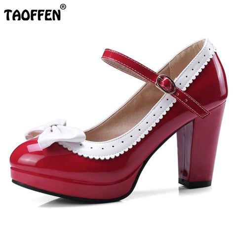 10e727e178 YALNN Women's Leather Med Heels New High Quality Shoes Classic ...