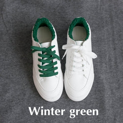 Smile Circle 2018 Spring White Sneakers For Women Comfortably Lace-up Flats Shoes Woman Sneakers Fashion Casual Shoes Girls