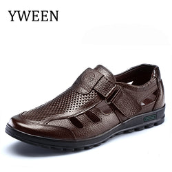 Mens sandals genuine leather sandals outdoor casual men leather sandals for men Men Beach shoes - Dizzel Shopping