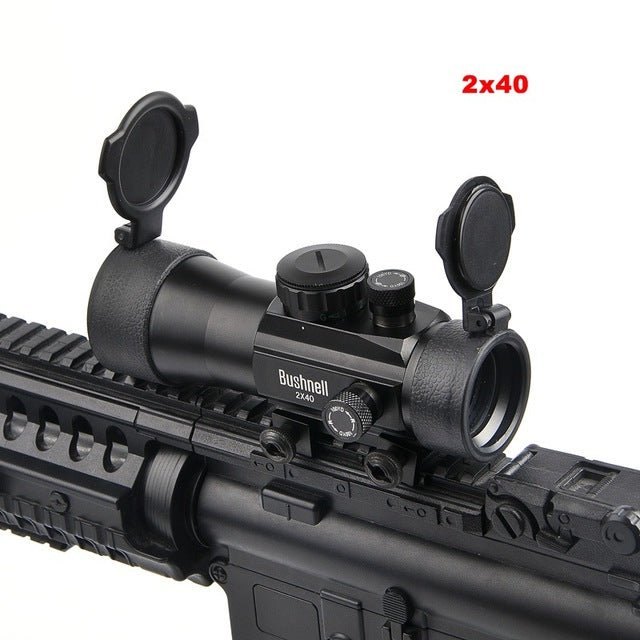 2x40 Green Red Dot Sight Scope Tactical Optics Riflescope Fit Picatinny Rail Mount 20mm Rifle Scopes - Dizzel Shopping