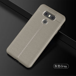 LG G6 Case Soft Litchi TPU Rugged Back Case - Dizzel Shopping