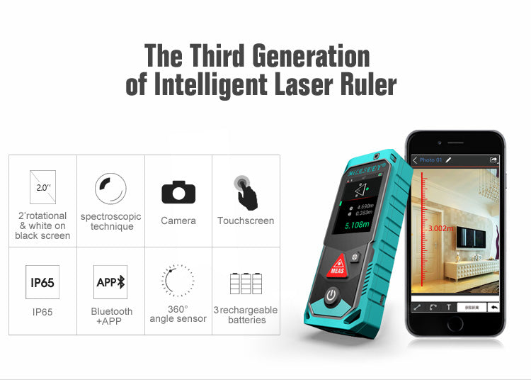 P7 80M Bluetooth Laser Rangefinder with Rotary Touch Screen - Dizzel Shopping
