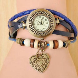 Heart Vintage Wrap Watch - Dizzel Shopping