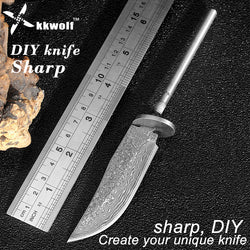 Sharp diy Pocket Fixed blade Knife Imitation Damascus Steel Tactical Survival EDC Knife Camping Self-defense Hunting faca - Dizzel Shopping