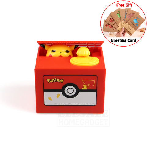 High Quality Pokemon Pikachu Coin Bank