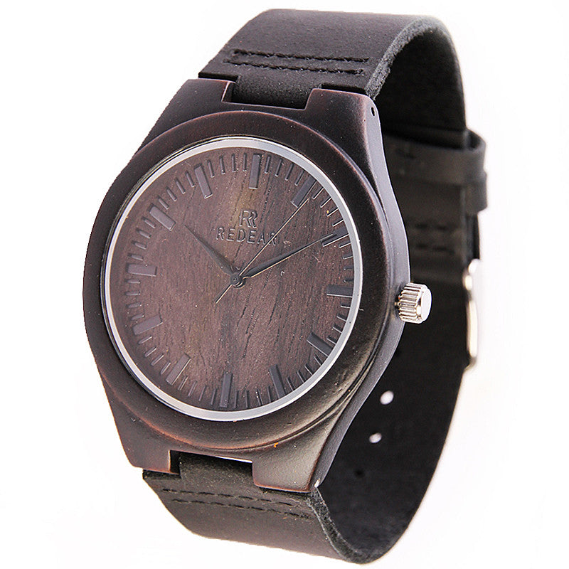 Wood Watch Men Watch Unique Wooden Watches Genuine Leather Men Watch